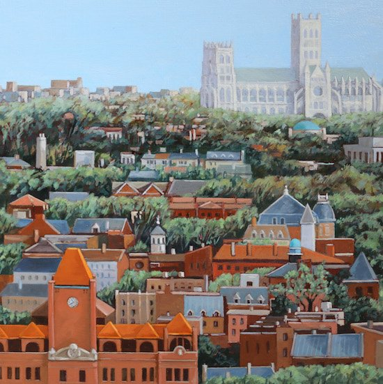 Georgetown-Hill by Gale Wallar. Courtesy of Touchstone Gallery.