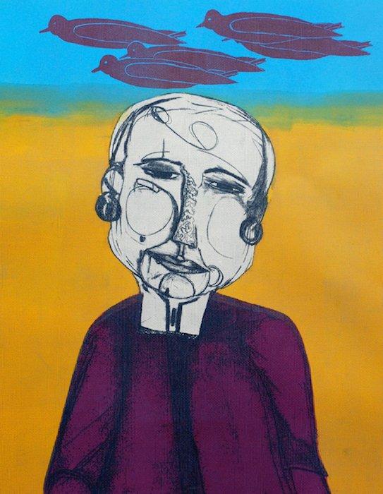 Cherie Redlinger. Bird Brain Is A Smart One, 2014. Courtesy of the Women's Caucus for Art.