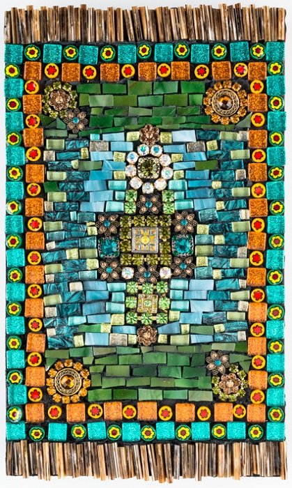 """Tapestry Mosaic, 10"""" x 6"""" by Anita Bucsay Damron. Courtesy of the Art League."""