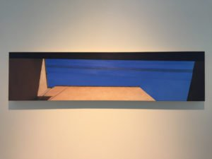 """Lillian Bayely Hoover,Alley, oil on panel, 12"""" x 48"""", 2016, Photo by Jay Hendrick"""