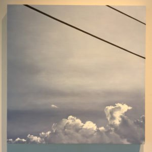 """Lillian Bayley Hoover, Powerlines, oil on panel, 24"""" x 24"""", 2016, Photo by Jay Hendrick"""
