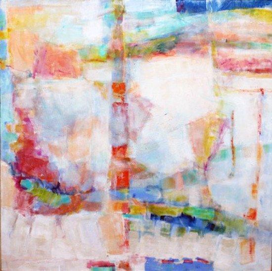 Amy Barker-Wilson, Shining 36 x 36 mixed media. Courtesy of Foundry Gallery.
