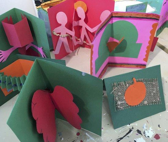 """Pop-Up Cards"" workshop led by Toni Lane. Courtesy of Art Enables."