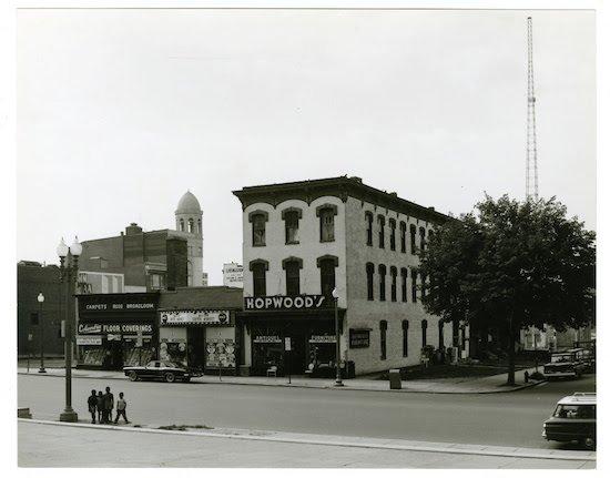 Image: Southside of the 700 block of K Street NW, 1963, by William Edmund Barrett © Kiplinger Washington Editors, Kiplinger Washington Collection, Historical Society of Washington DC.