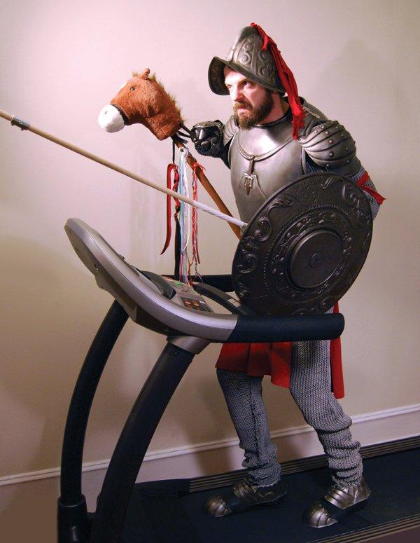 Andrew Wodzianski as Don Quixote. Performance. Photo courtesy of the artist.