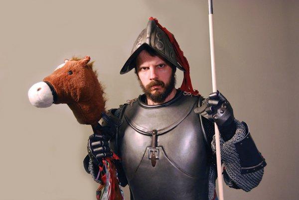 Andrew Wodzianski as Don Quixote (partial). Photo courtesy of the artist.
