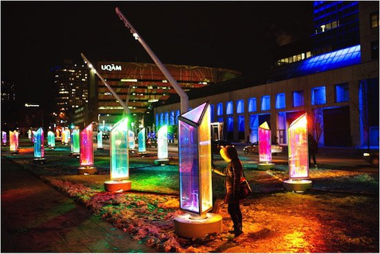 Prismatica, Creation and execution: Raw Design in collaboration with Atomic3 | Production: Quartier des Spectacles Partnership, Montreal, Canada.