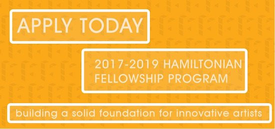 *DEADLINE EXTENDED* Hamiltonian Artists Fellowship Call for Applications