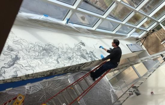 East City Artnotes: John M. Adams Debuts Large-Scale Installation at NVCC's Schlesinger Center