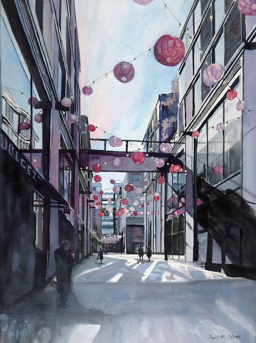 Lanterns by April M. Rimpo. Courtesy of Touchstone Gallery.