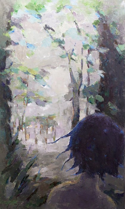 Finding My Own Way by Becky Kim, 40 x 24, oil. Courtesy of Foundry Gallery.