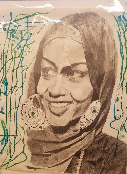 Beautiful Women by Jones Rhema. Courtesy of ArtReach Gallery at THEARC.
