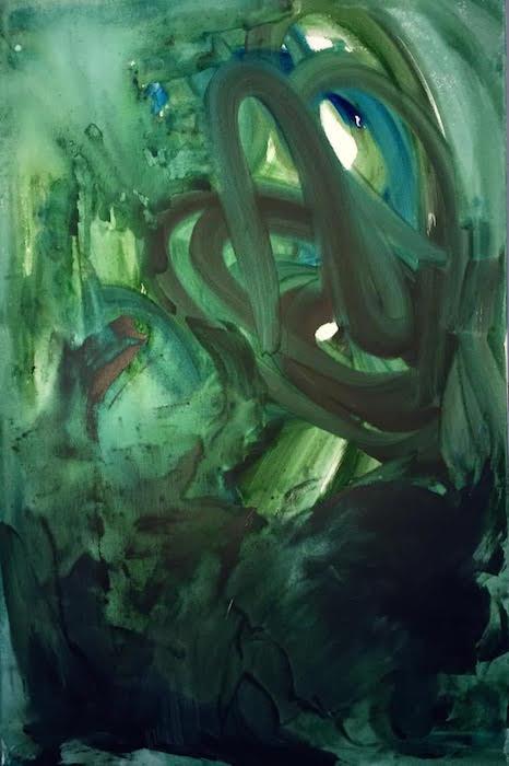 Kiki McGrath, Three-fold Waterfall, acrylic on canvas, 2 x 3'. Courtesy of Studio Gallery.