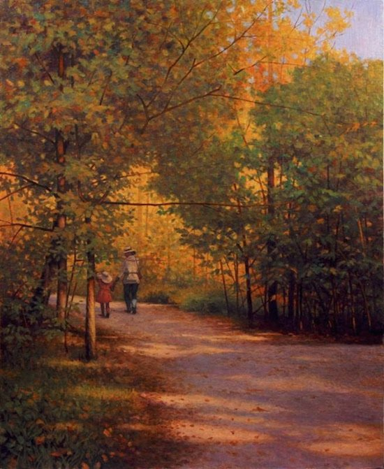 Pathway on Theodore Roosevelt Island by Mason Archie. Courtesy of Zenith Gallery.