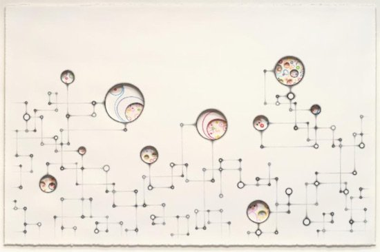 Amy Lin. Little Worlds, 2016 mixed media on paper, 32.5 x 46.5 inches. Courtesy of Addison/Ripley Fine Art.