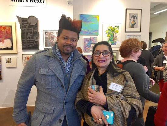 Lionel Daniels recipient of Touchstone Foundation for the Arts Emerging Artist Fellowships (2015-2017) and Mala Sarkar Sehgal, Touchstone Gallery Artist Member. Courtesy of Touchstone.