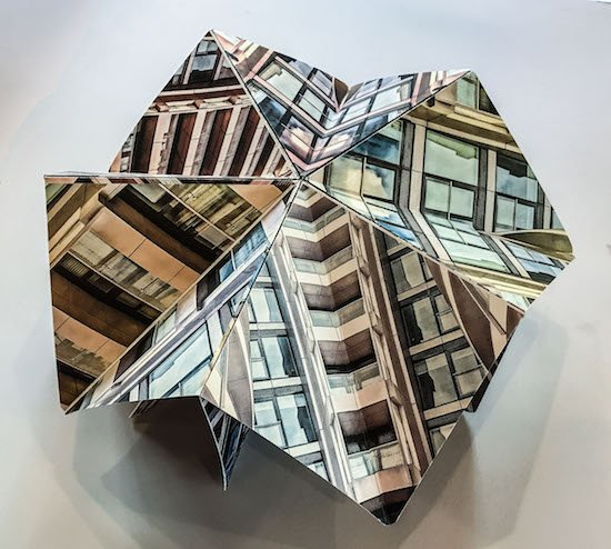 """Sally Canzoneri, Old Street Suite, sculptural artist book, 6.25""""x6.25""""x1"""". Courtesy of Fisher Gallery."""