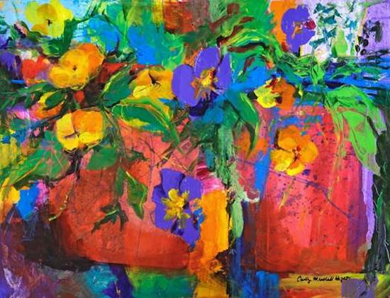 By July the Pansies Get Leggy by Carolyn Marshall Wright. Courtesy of Green Spring Gardens.