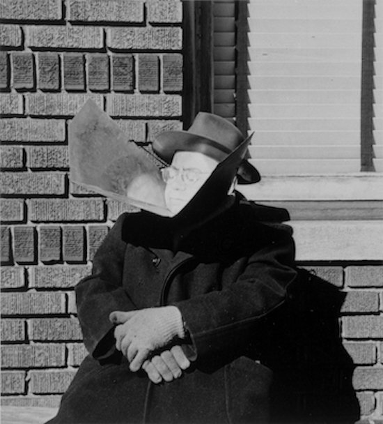 Image: N. Jay Jaffee, Man With Sun Reflector (East New York), 1952 (print date unknown), silver gelatin print, 10 x 8 inches. GW Collection, Gift of Lawrence Benenson, 1982. ©The N. Jay Jaffee Trust.