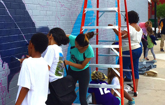 The Takoma/Langley Crossroads Development Authority Hosts Mural Painting Sessions
