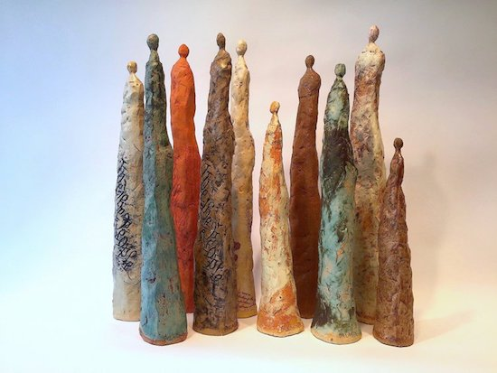 We, The People, Trish Palasik. Ceramic. Dimensions variable. 2017. Courtesy of Studio Gallery.