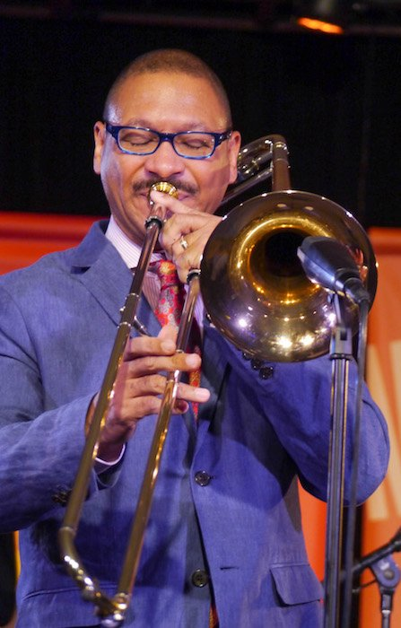 Delfeayo Marsalis performs at the 2014 Monterey Jazz Festival by David Becker - Own work, courtesy of Wikimedia Commons.