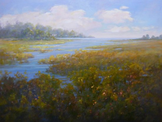 Painting by Art League instructor Sara Linda Poly. Part of the auction. Courtesy of the Art League.