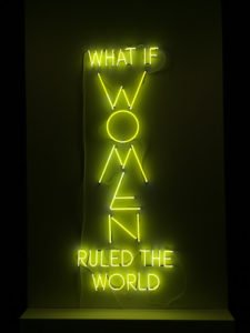 Yael Bartana, What if Women Ruled the World, 2016; Neon, 98 1/2 x 38 1/2 in.; National Museum of Women in the Arts; Museum purchase, Belinda de Gaudemar Acquisition Fund, with additional support from the Members' Acquisition Fund.