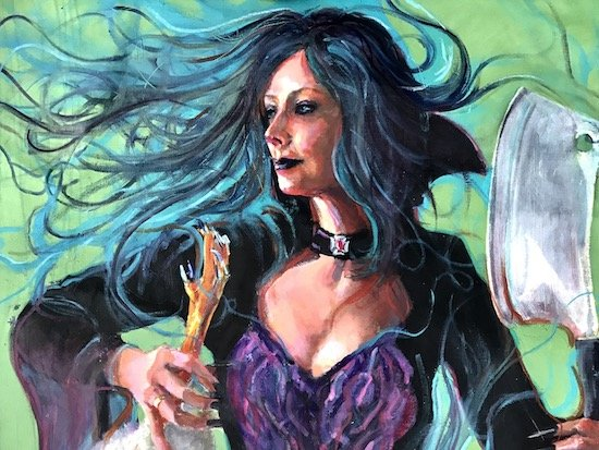 Detail from American Goth by Sage Chandler. Courtesy of the Art League.