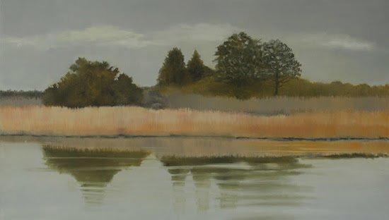 Judith Vivell, Marsh Grass, Oil on canvas, 2017, 62½ x 36½ (art) 63½ x 37½. Courtesy of Susan Calloway Fine Arts.