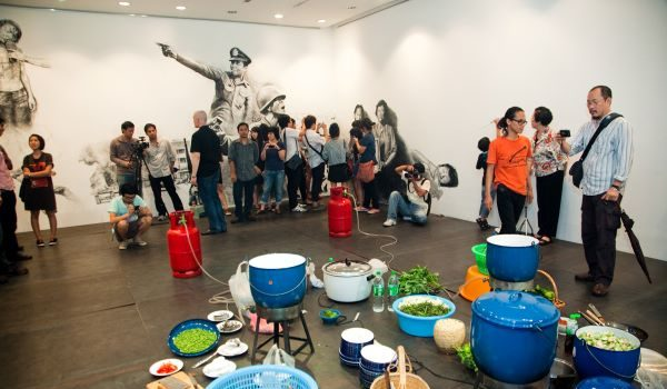 East City Artnote: Rirkrit Tiravanija: (who's afraid of red, yellow, and green) at the Hirshhorn Museum and Sculpture Garden