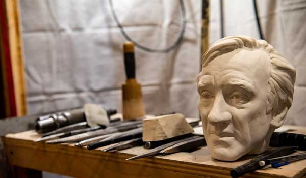 Washington National Cathedral Adds Stone Carving of Elie Wiesel to Its Human Rights Porch